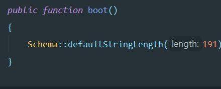 Fix Laravel DB connection and key length error