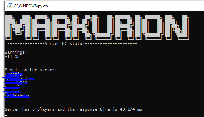 Check your Minecraft server by python